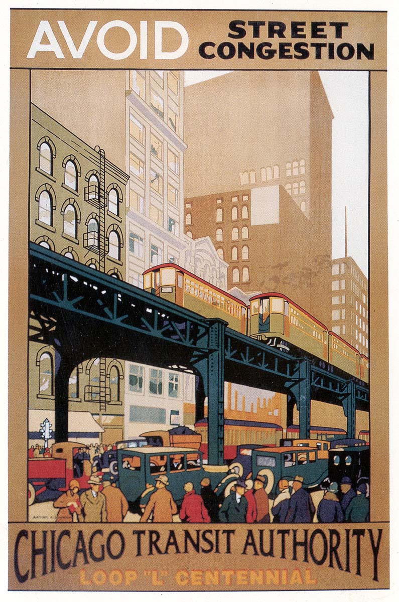 Chicago Transport Posters Avoid Congestion