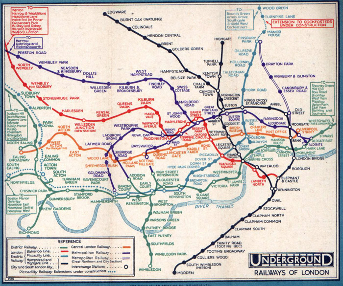 1932 London Underground Map