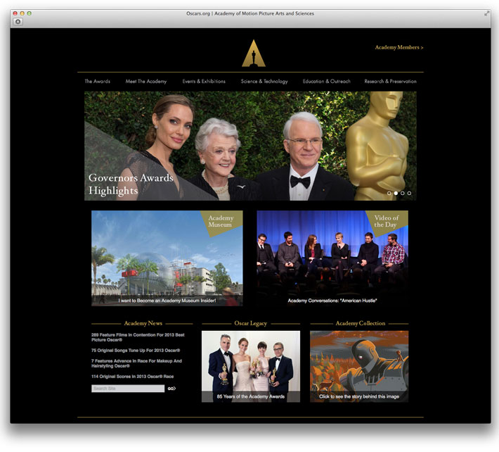 Academy Awards New Oscars Logo and Website Branding