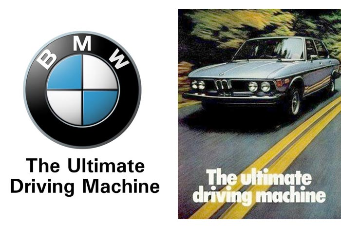 BMW - The Ultimate Driving Machine Slogan