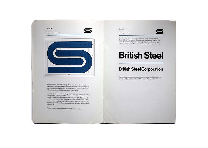 david gentleman british steel brand identity
