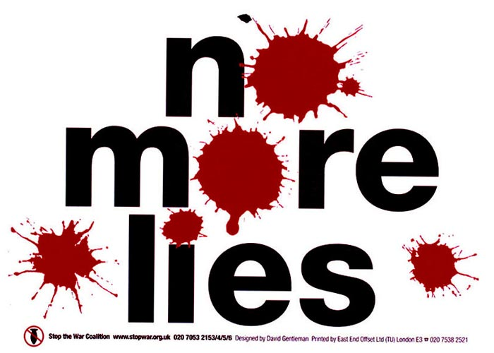 David Gentleman No More Lies Poster