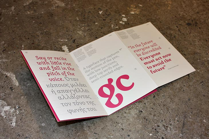 beautifully design font booklet