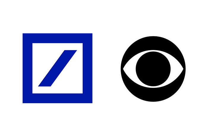 Deutsch Bank and CBS logos