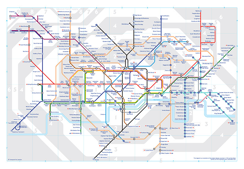 2013 London Underground Map Design